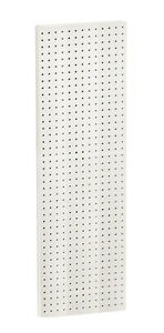 White Molded Plastic Pegboard Wall Panels 13 5w X 44 H Inches Box Of 2