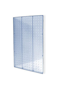 Clear Molded Plastic High Pegboard Wall Panels 13 5w X 22 H Inches Pack Of 2