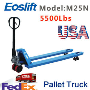 Pallet Jack Hand Truck 21 X 48 5500 Lbs Cap New Free Shipping From Ca
