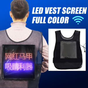 Us Stock Vest Screen Full Color Led Advertising Vest Led Screen Indoor outdoor