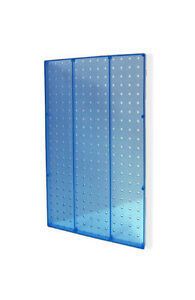Blue Molded Plastic Pegboard Wall Panels 13 5w X 22h Inches Box Of 2