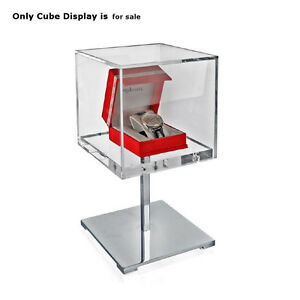 Clear Cube Covered 13 5 Inches Jewelry Display Case For Counter Top