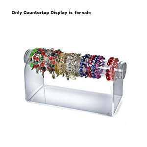 Acrylic Horizontal Countertop Bracelet Display In Clear 12d X 5 5h Inches