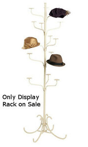 Boutique 5 Tier Hat Display Rack In Ivory Finish 72 H Inches