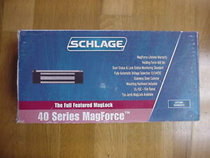 Schlage 40 630 Maglock Mag Lock 600 Lb Holding 12 24vdc Automatic Selection
