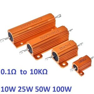 50w 100w Rx24 Aluminum Metal Shell High Power Case Heatsink Resistor 5 0 1 1k