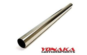 Yonaka 3 Polished Stainless Steel Exhaust Straight Pipe Piping Tubing 3ft Long