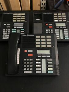 Lot Of 3 Qty 3 Nortel Norstar Meridian M7310 Display System Phone Blk Nt8b20