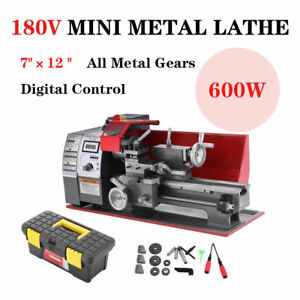 Updated Wood Mini Metal Turning Lathe Woodworking Tool Cutter Drilling Milling