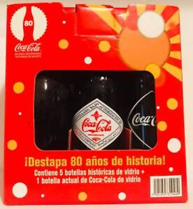 Rare Limited Edition Vintage Mexico Coke Coca Cola Glass Reproduce 6 pack Bottle