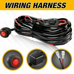2 Lead Wiring Harness Led Light Bar 40amp Relay Fuse On Off Switch For 2 Lights