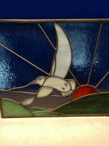 Seagull Stain Glass Window Hanging