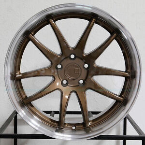 4 new 19 Aodhan Ds02 Ds2 Wheels 19x9 5 19x11 5x114 3 15 22 Bronze Staggered Rim