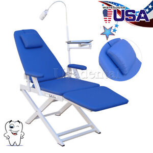 Us Dental Portable Folding Chair Simple Type Dentist Use Led Light Lounge Chair