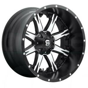 4 New 22 Fuel Nutz D541 Wheels 22x12 8x180 44 Black Machined Rims