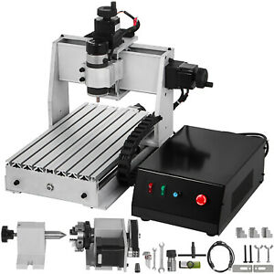 4 Axis Cnc 3020 Engraving Milling Machine Woodworking 4 Rotating Axis Usb Port
