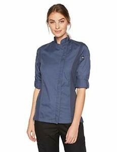 Chef Works Women s Hartford Chef Coat Blue X large