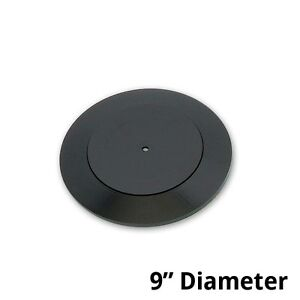 Plastic Revolving Display Base In Black 9d X 0 75h Inches Count Of 10