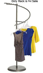 Boutique Raw Steel Spiral Clothing Rack 29 ball