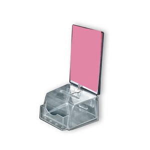 Molded Suggestion Box In Clear 5 5w X 5d X 3 5h Inches With Pocket lock And Key