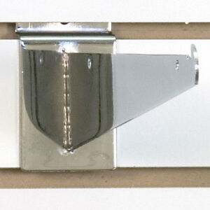 Heavy Duty Slatwall Shelf Bracket In Chrome 10 Inch Pack Of 25