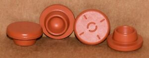 20mm Red Butyl Serum Vial Stoppers Round Bottom Any Qty