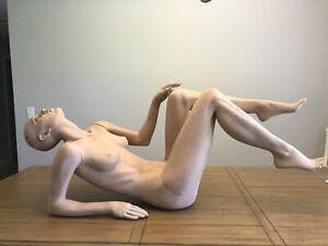 Vintage Greneker Mannequin Female Laying Down Reclining Nonchalance Collection