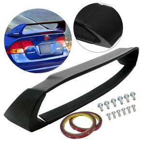 Mugen Style Rr Rear Trunk Spoiler Wing Unpainted For 06 11 Honda Civic 4dr Sedan