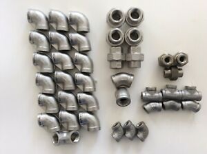 Lot Of 39 New Stainless Steel 1 2 1 4 Pipe Fitting 304 316