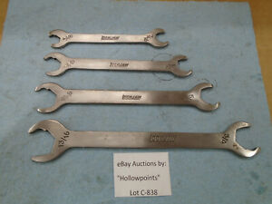 C838 Lockjaw 4 Pc Stainless Steel Thin Wrench Hydraulic Line Service Open End