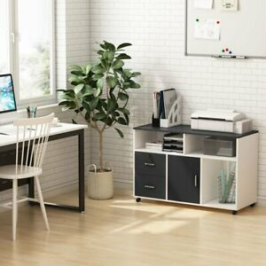 File Cabinet With Drawers And Wheels Open Storage Shelves For Study Home Office