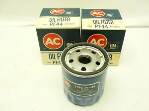 2 Vintage Nos Acdelco Pf44 Duraguard Oil Filter Gm 25010633