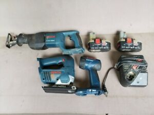 Bosch 18v Skill Saw reciprocating Saw flashlight With 2 Batteries And 1 Charger