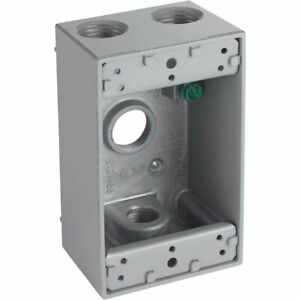 Gray Weatherproof Electrical Outdoor Outlet Box 5321 0 528188