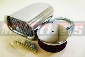 Washable Polish Aluminum Hood Intake Scoop Mini hilborn Air Cleaner Streetratrod