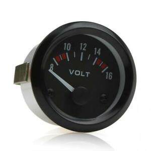 2 52mm 8 16v Voltmeter Volt Voltage Meter Gauge Led 12v Dc Car Auto Boat