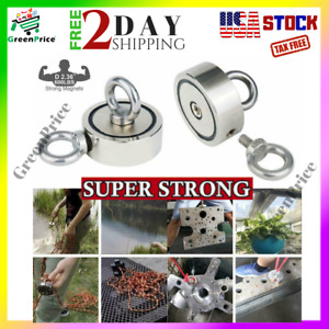 Fishing Magnet Double Sided 600 Lb Pulling Force Neodymium Salvage Ring Deep Sea