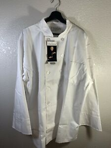 4x Chef Works Men s White Chefs Coat Double Breasted Long Sleeve X Large Nwt
