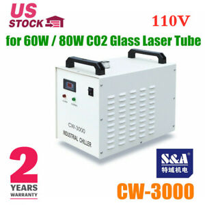 Usa S a Cw 3000dg Industrial Water Chiller For 60w 80w Co2 Glass Laser Tube