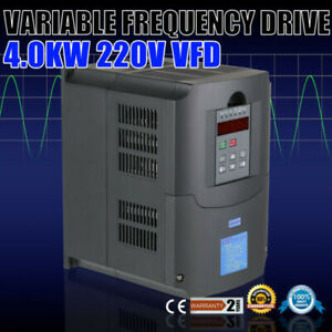 4kw 220v Variable Frequency Drive Cnc Spindle Motor Speed Control Vfd Inverter
