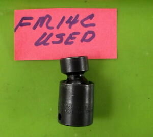 Snap On Impact 14mm Swivel Socket 3 8 Ripfm14c Used Made In Usa