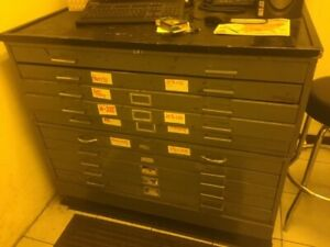 5 Drawer Flat File Cabinet 6 Sets Available
