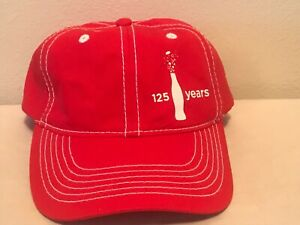 Red Coca-Cola 125 Years Adjustable Baseball Hat Cap