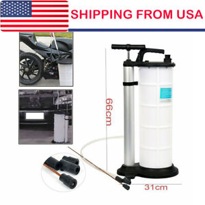 Manual 9liter Oil Changer Vacuum Fluid Extractor Pump Tank Remover Us