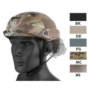 Emerson Tactical BJ Type Fast Helmet Bump Base Jump Assault Helmet w Side Rail
