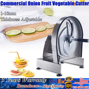 New Manual Fruit Vegetable Slicer Cutting Machine Onions Potato Oranges Tomato