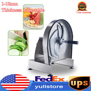 Commercial Tomato Slicer Fruit Vegetable Cutter Tomato Cutting Machine 1 18mm
