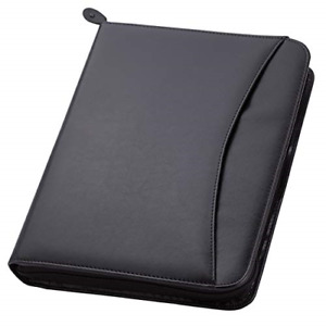Travigo 3 ring Zipper Portfolio Simulated Leather 1 25 3 ring Binder