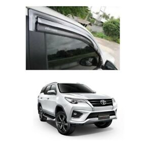 4 Wind Deflector Weather Guard Window Visor For 2015 2018 On Toyota Fortuner Suv
