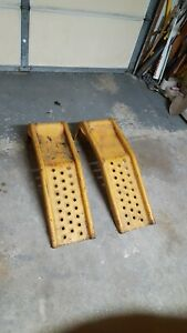 2 Steel Car Ramps And Jack Stands Used For Local Pickup Only